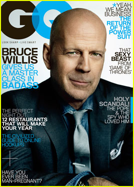 Bruce Willis Covers 'GQ' Magazine March 2013