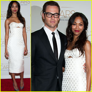 Chris Pine &#038; Zoe Saldana: Academy Tech Awards 2013