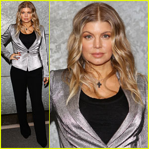 Fergie: Front Row At Emporio Armani Fashion Show