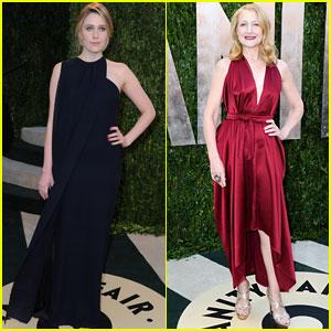 Greta Gerwig & Patricia Clarkson - Vanity Fair Oscars Party 2013