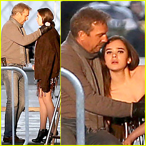 Hailee Steinfeld: 'Three Days to Kill' Set with Kevin Costner