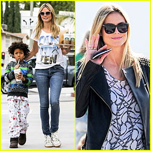 Heidi Klum: Venice Beach Commercial Shoot!