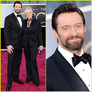 Hugh Jackman - Oscars 2013 Red Carpet with Deborra-Lee Furness