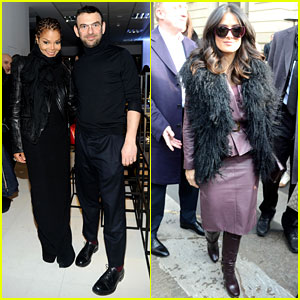 Janet Jackson & Salma Hayek: Milan Fashion Week Events!