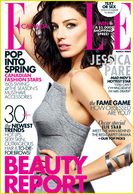 Jessica Pare Covers 'Elle Canada' March 2013