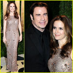John Travolta & Kelly Preston - Vanity Fair Oscars Party 2013