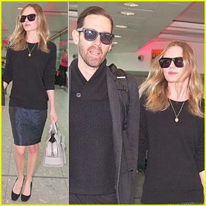 Kate Bosworth & Michael Polish: London Fashion Week Arrival!
