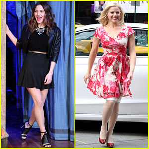 Katharine McPhee Does 'Fallon', Megan Hilty Films 'Smash'