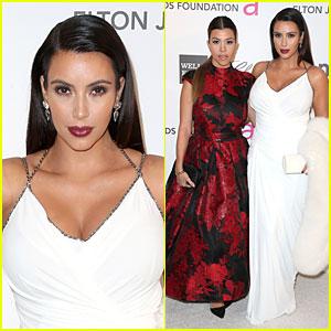 Kim Kardashian - Elton John Oscars Party 2013