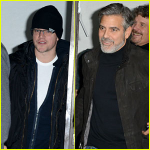 Matt Damon & George Clooney: Dinner Duo in Berlin!