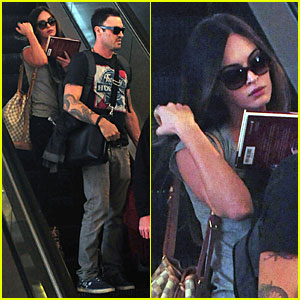 Megan Fox & Brian Austin Green: Book Carrying LAX Departure!