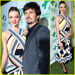 Miranda Kerr & Orlando Bloom: Global Green Pre-Oscars Party!