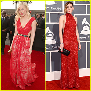 Natasha Bedingfield & Skylar Grey - Grammys 2013 Red Carpet