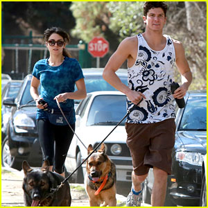 Nikki Reed: Dog Run With Brother Nathan!