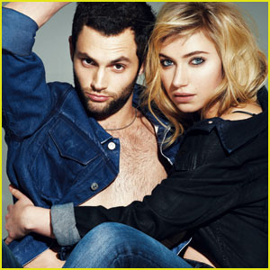Penn Badgley & Imogen Poots: 'V' Magazine Feature