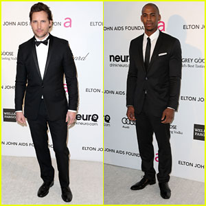 Peter Facinelli & Mehcad Brooks - Elton John Oscars Party 2013