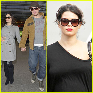 Pregnant Jenna Dewan & Channing Tatum: Baby Bumpin' London Landing!