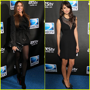 Sofia Vergara & Nina Dobrev: DirecTV Super Bowl Party