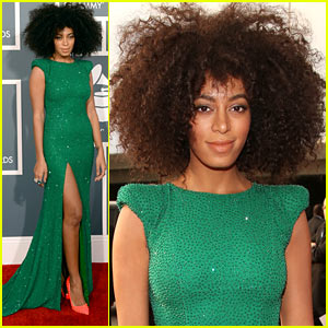 Solange Knowles - Grammys 2013 Red Carpet
