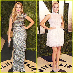 Teresa Palmer & Margot Robbie - Vanity Fair Oscars Party 2013