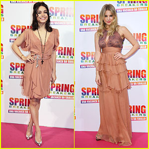 Vanessa Hudgens & Ashley Benson: 'Spring Breakers' Rome Premiere!