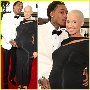 Wiz Khalifa &#038; Amber Rose - Grammys 2013 Red Carpet
