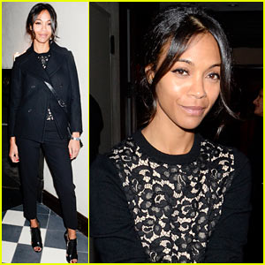 Zoe Saldana: Gents Launch Party!