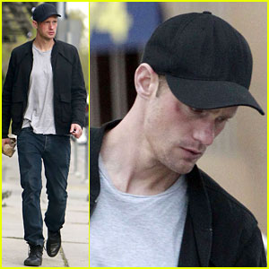 Alexander Skarsgard: Bruised Eye in Los Angeles