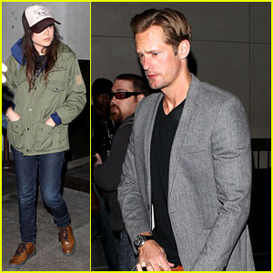 Alexander Skarsgard & Ellen Page: LAX Arrival After SXSW!