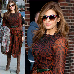 Eva Mendes: 'Late Show with David Letterman' Tonight!