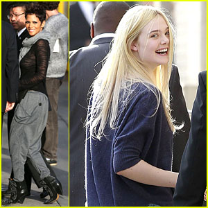 Halle Berry & Elle Fanning: 'Jimmy Kimmel Live' Ladies!