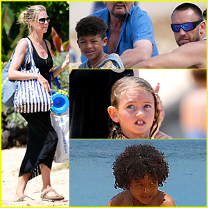 Heidi Klum & Martin Kirsten: Beach Picnic with the Kids!