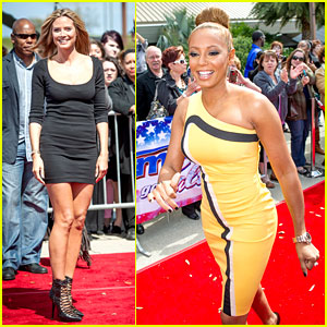 Heidi Klum & Mel B: 'America's Got Talent' Taping!