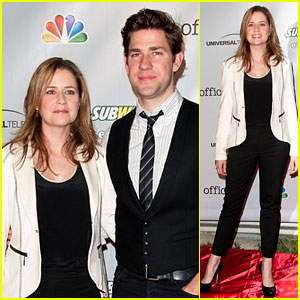 John Krasinski & Jenna Fischer: 'The Office' Series Wrap Party!