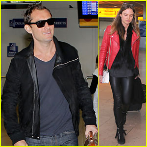Jude Law: Au Revoir to France with a Mystery Woman!