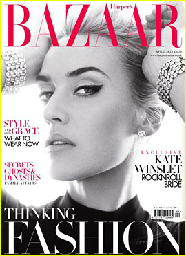 Kate Winslet Covers 'Harper's Bazaar UK' April 2013