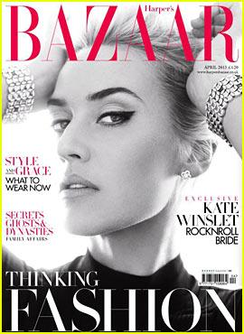 Kate Winslet Covers 'Harper's Bazaar UK' April 2013