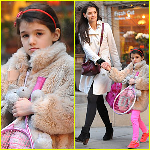 Katie Holmes & Suri: Tennis Playing Duo!