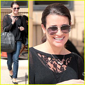 Lea Michele: Cory Monteith Necklace Wearing Gal!