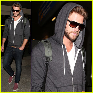 Liam Hemsworth Lands in Los Angeles, Miley Cyrus Twerks