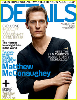 Matthew McConaughey Covers 'Details' April 2013