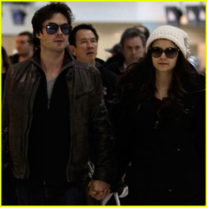 Ian Somerhalder & Nina Dobrev Hold Hands After Visiting Sick Fan