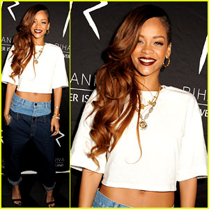 Rihanna: Double Jeans Look at River Island After Party!