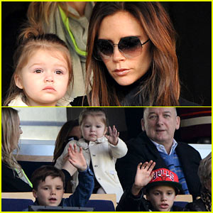 Victoria Beckham &#038; Kids Cheer on David Beckham!