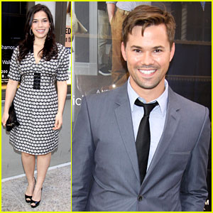 America Ferrera & Andrew Rannells: 'Assembled Parties' Opening Night!