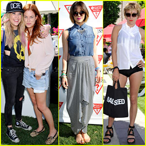 Ashley Benson & Riley Keough: Guess Pool Party!