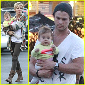 Chris Hemsworth & Elsa Pataky: Grocery Shopping After Easter!