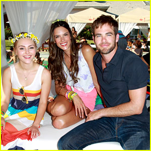 Chris Pine & Alessandra Ambrosio: Lacoste L!ve Pool Party!