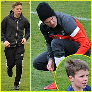 David Beckham: Soccer Camp With His Sons