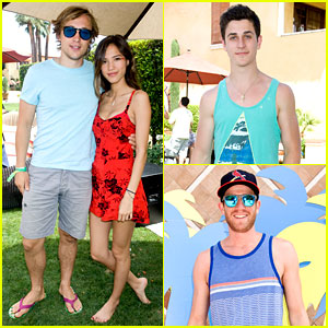David Henrie & William Moseley: Just Jared/Armani Exchange Music Festival Brunch!